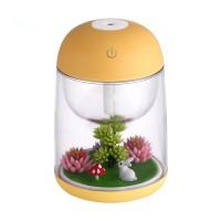 Humidifier Udara Micro Landscape dengan Lampu LED Berubah Warna