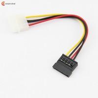 15CM 4 Pin Molex Female To 15 Pin Sata Male Power Adapter Cable Hard