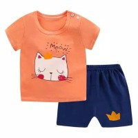 Baju anak / setelan / import / pakaian rumahan / santai - 6bln-1th