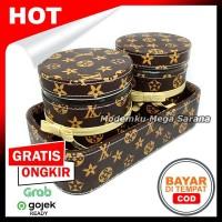 Tatakan Toples Vinyl - isi 2 - Coklat LV