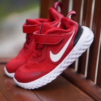 ORIGINAL Nike Sepatu Anak Kids Kid Perempuan Slip On Velcro Red BNWB
