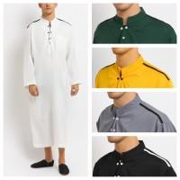 AFRICANI Jubah Gamis Pakaian Gamis Pria Al Isra Busana Muslim Pria