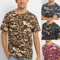 CAMO37 kaos baju loreng katun full printing army camo oblong