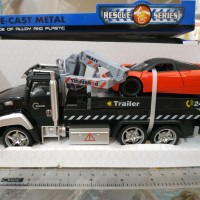 Mainan Diecast Rescue Series Trailer Truck Merah Sport