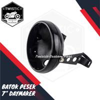Cover Batok Pesek Lampu Daymaker 7 inch Motor & Bracket Kupingan