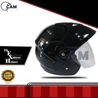 Helm Motor Jp-5 black gloss SNI polos