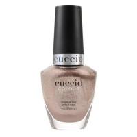 Cuccio Colour - Dreamville (Kutek nude rose gold dengan glitter krom)