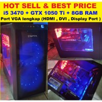 PC gaming with i5-3470, ram ,8gb GTX 1050ti. bukan RX 550 560 570 580