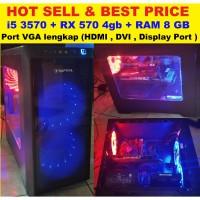 PC gaming with i5-3570, ram 8gb, RX 570 .bukan gtx 1050ti 1060 570