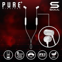 SOUL PURE WIRELESS High Performance Earphones With Bluetooth V5.0 - Hitam