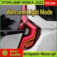 STOPLAMP HONDA JAZZ GK5 V2 - STOP LAMP LED Sequential Ceremony Welcome