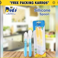 Dodo Silicone Spoon 2Pc Sendok Makan Bayi Full Silikon