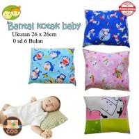 Bantal Bayi Kotak Baru Lahir sd 6 Bulan Karakter 25x25cm Termurah