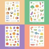 Moon Pancake Mini Sticker Meal Series Bundle Set