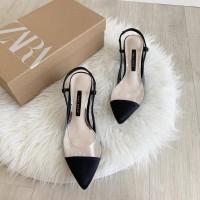 sepatu heels wanita cewek zs135 wedges sandal zara hak tinggi pantofel