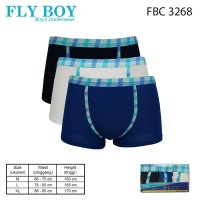 FlyBoy Boys Blue Flannel Boxer 3 PCS FBC 3268