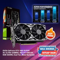 VGA Gaming EVGA Geforce GTX 1660 SUPER SC ULTRA GAMING 6GB DDR6