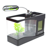 Desktop Aquarium Mini Fish Tank with Running Water EECOO USB