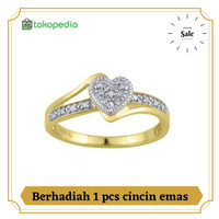 cincin love emas asli berlian eropa
