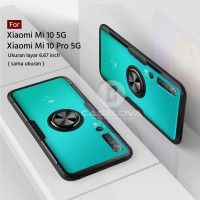 Case Xiaomi Mi 10 / Mi 10 Pro 5G Invisible Ring Transparent Kickstand