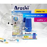 Pompa Galon Elektrik LED Mini Dispenser Karakter 4 Liter Arashi ACD 04