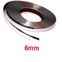 Dekorasi Interior Mobil Moulding Chrome Strip 15M - C3578