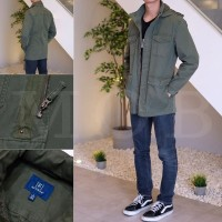 Jacket George Field Jacket with Hidden Hooded Olive