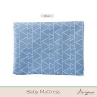 Aurora Baby Sprei Matras / Matrress Cover untuk Box dan Kasur Bayi - 95x65x10-Blue