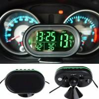 Jam MObil Digital Pengukur Voltase Accu & Temperatur Suhu Mobil / Jam