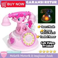 E4 Mainan Anak Perempuan Telepon HP Pony Unicorn Mainan Anak Murah