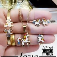 titanium set perhiasan anak 712a