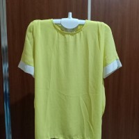 blouse atasan polos kuning