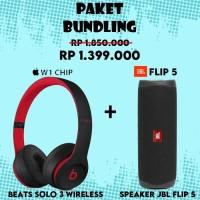 Paket Bundling Speaker JBL Flip 5 + Beats Solo 3 Wireless (Decade)