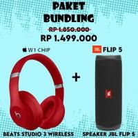 Paket Bundling Speaker JBL Flip 5 + Beats Studio 3 Wireless (Red)