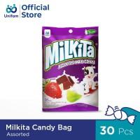 MILKITA CANDY ASSORTED BAG PREMIUM LOKAL 30 pcs X 4 g