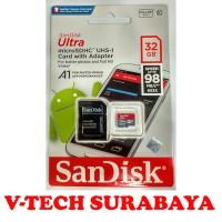 SANDISK ULTRA MICROSDHC A1 32GB SPEED 98MB/S** 653X