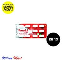 PANADOL EXTRA MERAH PARACETAMOL ISI 10 TABLET