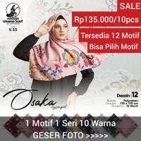 GROSIR!! kerudung OSAKA by umama scarf hijab jilbab Segi empat motif