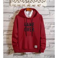 Sweter GAME OVER battle hoodie sweater cewek cowok basic sweater