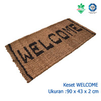 Keset Kaki Keset Ijuk Welcome Cleanmatic 180141 Coco Mat