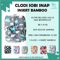 ORIGINAL Popok Kain Cuci Ulang Clodi Sobi Snap Insert Bamboo