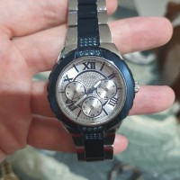 Jam tangan Guess wanita biru stainless besi ORI