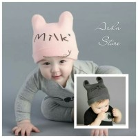 Topi kupluk bayi anak laki laki dan perempuan cat&milk