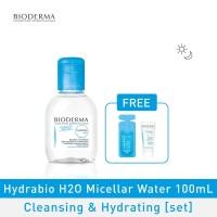 Bioderma Hydrabio H2O Micellar Water Cleansing & Hydrating 100ml [set]