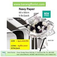 Navy Paper (1489A), 20 lbr/pack, Aksesoris toko bunga, kertas bunga,