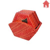 Coaster, Tatakan Kayu Batik Hexagonal D10 x 6pcs.