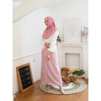 Rok Korean Button Pink Blossom (Skirt Only) Original DRESSSOFIA