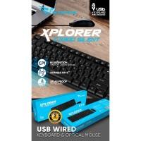 Alcatroz Xplorer C3300 Silent USB Keyboard & Mouse Combo