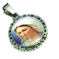 medali rosario Maria Fatima titanium