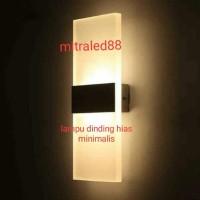 Lampu dinding/taman 2arah Minimalis Outdoor 4w/4watt hias soft - Hitam